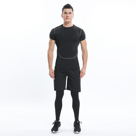 健身服男套装跑步速干衣运动紧身衣篮球训练服紧身裤压缩衣健身服
