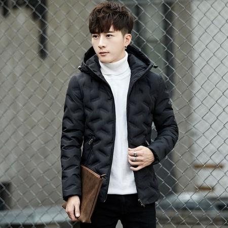 一件代发2018新款冬装男式羽绒服  男士羽绒服外套连帽潮流男装