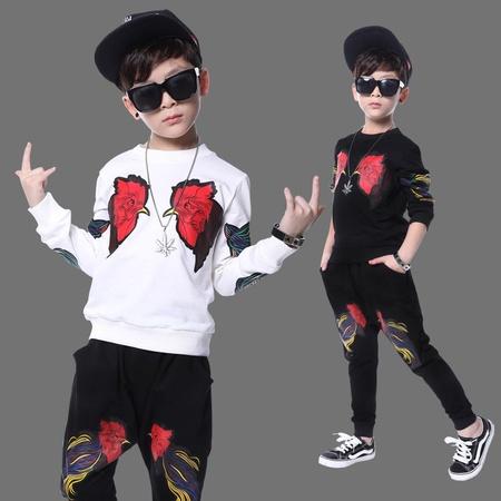 批发儿童演出服男现代舞服装幼儿舞蹈服少儿爵士舞嘻哈街舞表演服