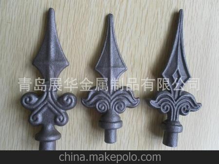 青岛厂家 供应栏杆护栏配件锻造枪尖铁艺矛头