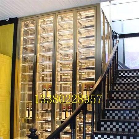 上海不銹鋼恒溫酒柜、 專業定制酒架、不銹鋼酒柜紅酒展示柜定制