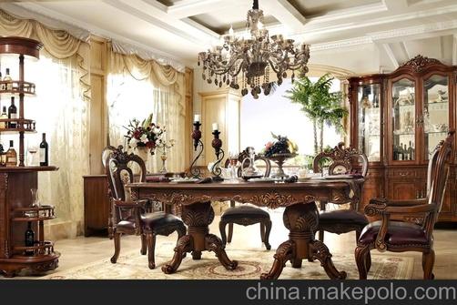 欧式家具 美式沙发 美式家具 圆餐桌 欧式圆餐台 餐椅