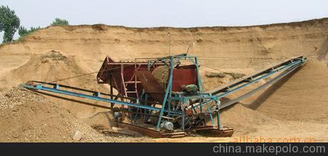 專業為攪拌站 高鐵工地料場配套滾筒篩沙機 混凝土沙石分離機