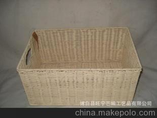 手工藤編 籃子 處物框