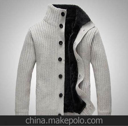 2013年新款 男装 男士毛衣男 加厚毛衣 加绒针织衫男 开衫